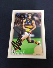 ADELAIDE CROWS - MARK RICCIUTO SIGNED AFL 2012 SELECT HALL OF FAME COMMON CARD