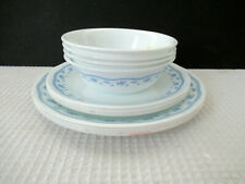 Vintage Corelle/Corning MORNING BLUE Lot of 12 Pieces Preowned