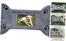 Pet Memorial Stones, Bone Shaped Personalized Dog Tombstone with Waterproof