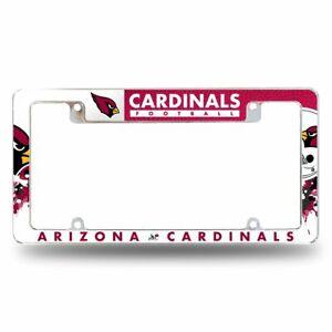 Arizona Cardinals NFL Chrome Metal License Plate Frame w/ Bold Full Frame Design