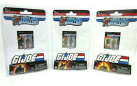 (Set of 3) World's Smallest GI JOE vs COBRA - Snake Eyes, Duke Roadblock