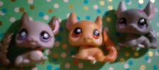 Littlest Pet Shop Lot Of 3 Chinchillas Cute(G)