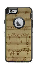Skin Decal Wrap for Iphone 6 6S Otterbox Defender Case Music Note Sheet Song