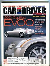 Car and Driver Magazine February 1999 2001 Cadillac EVOQ EX 041516jhe