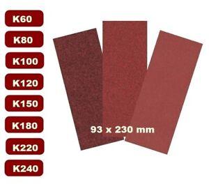 20x Schleifpapier-Set  93x230 mm  Schleifstreifen  K 60- 240
