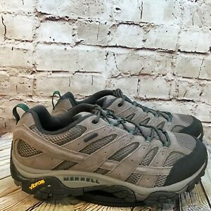 Merrell Moab 2 Men's Wide Fit Vibram Sole Gray Waterproof Hiking Shoes 13 W
