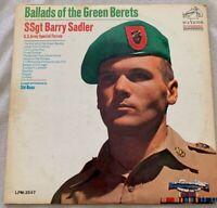 RARE LP VINYL: SSgt Barry Sadler Ballads Of Green Berets RCA 1966 LPM-3547 Mono