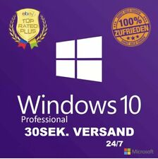 Microsoft Windows 10 Professional Pro Product Key Vollversion 32 + 64 Bit