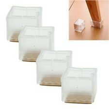 8 x Square Chair Leg Caps Rubber Feet Protector Pads Furniture Table Covers