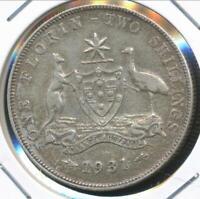 Australia, 1931 Florin, 2/-, George V (Silver) - good Very Fine