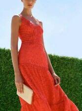 Karen Millen Red Royal Ascot Dress Size 16 Leopard Lace