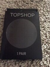 NEW IN PACKAGING LADIES TOPSHOP BLACK SHEER CHECK TIGHTS SIZE SMALL/MEDIUM