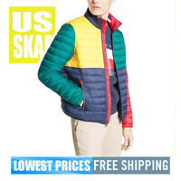 Tommy Hilfiger Men's NWT Color Block WATER RESISTANT Puffer Jacket LARGE SP $189