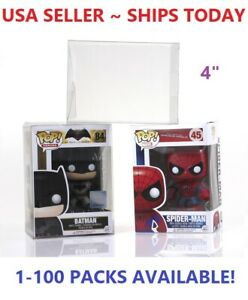 """Lot 5 20 50 100 Collectibles Funko Pop Protector Case for 4"""" inch Vinyl Figures"""