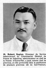 "INDOCHINE "" LEGION D' HONNEUR ROBERT ROPION "" ILLUSTRATION 1954"