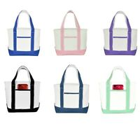 """DALIX 12"""" Small Cute Cotton Canvas Gift Tote Wedding Bag Pink Purple Red Blue"""
