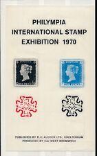 Sello de GB exposición 1970 Penny Black + Twopenny + Wootton Mx.. R. C Alcock Hoja