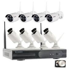 8CH 1MP/720P Inalámbrica Cámara IP Sistema del hogar seguridad de Vigilancia 3TB