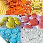 Large Decorative Mosaic Glass Gems Pebbles Flat Opaque Home Decoration.1lb, 35mm