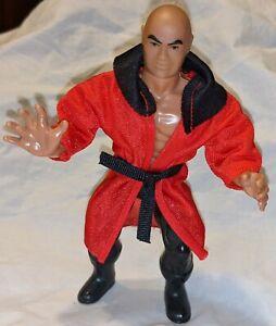"1985 AWA Remco ""The Claw master"" Baron Von Raschke wrestling figure w/ robe"