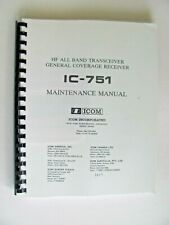 ICOM IC-751 Maintenance Manual For Amateur Radio Transceiver with Fold-outs