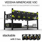 Open Air Mining Frame Rig Case 6 GPU Rack Ethereum Veddha Minercase with 5 Fans