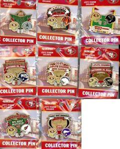 49ers 2015-2016 Game Day Pin Choice 8 pins San Francisco Forty Niners Cowboys +
