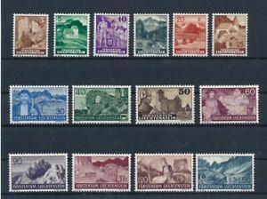 D194850 Liechtenstein MNH Scenery Castles Sc. 136-150 1937-1938