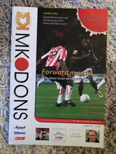 MK Dons v Yeovil Town - Coca~Cola League 1 2005/06 Programme