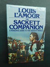 LOUIS L'AMOUR 1st edition The SACKETT COMPANION  hardcover 1988 personal guide