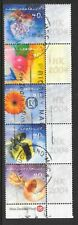 NEW ZEALAND STRIP x 5; 2001 GREETINGS STAMPS; LABELS ADAPTED FOR HK 2004