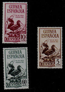 SPANISH  GUINEA SCOTT# B22-B24  MH BIRD TOPICAL