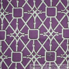 BonEful Fabric FQ Cotton Woven VTG Decor Purple Cream Brown Damask Pattern Print