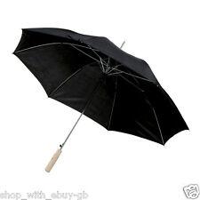 2 X Color Negro Grande Golf Para Hombre Umbrella-Impermeable Unisex Pesca Groom