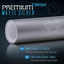 Premium Matte Flat Silver Vinyl Wrap Sheet Sticker Decal Bubble Free Air Release