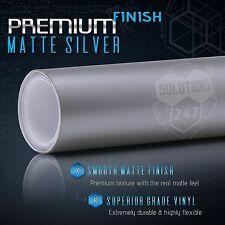 Premium Matte Flat Silver Vinyl Wrap Sheet Sticker Decal Bubble Free Air Release