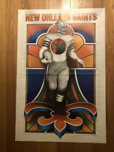 🏈New Orleans Saints David Willardson NFL Collectors Series Poster🏈 Rare!