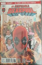 Marvel Comics 2018 Deadpool #300 Signed Mike Hawthorne with COA