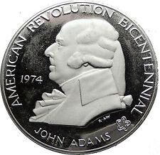 1974 US President JOHN ADAMS 200 First Continental Congress Silver Medal i58843