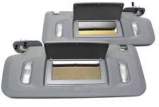 GM Interior Sun Visor Set Gray W/ Lighted Mirror Fit: Avalanche Silverado Sierra