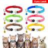6pcs Pet Puppy Small Dog Kitten Cat Breakaway Collar Safety Quick Release&Bell