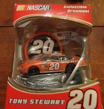 NEW IN BOX 2005 NASCAR TONY STEWART COLLECTIBLE ORNAMENT  # 20  HOME DEPO TREVCO