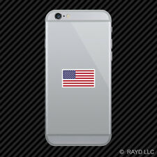 American Flag White Border Cell Phone Sticker Mobile USA America US flags