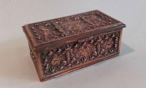 Antique Grand Tour 1870s Bronze Copper embossed Box ~ Erhard & Sohne.