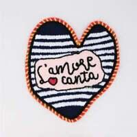 patch chenille Feminist Forever heart
