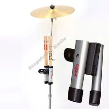 DRUMSTICK HOLDER DB757 HIGH QUALITY . STICK HOLDER CLIPS ONTO STAND