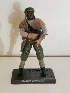 Star Wars Saga Legends Collection Endor Rebel Trooper (black) loose