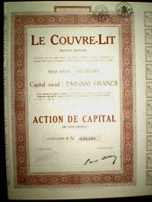 Le Couvre-Lit,Share certificate1928,Belgium(bedspreads)