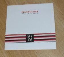 Peugeot 405 Accessories Brochure 1988