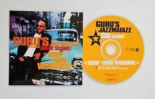GURU'S JAZZMATAZZ ft ANGIE STONE Keep your worries 2-track PR0M0 CDS Card sleeve